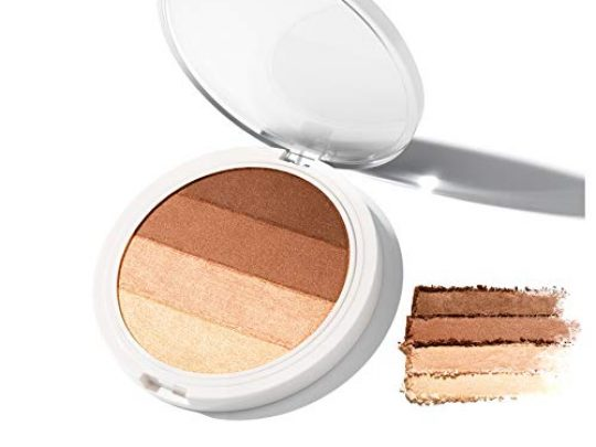 4 in 1 Matte Shimmer Powder Bronzer Coconut Extract for Radiant Glow UNDONE BEAUTY Warm Up Bronzer Buildable Contouring Strobing Highlighting for FaceBody Vegan Cruelty Free WARM BRONZE 0 540x405 c