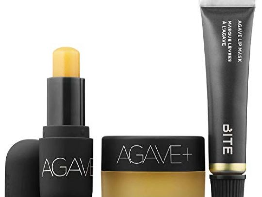 BITE BEAUTY All Agave 3 Piece Lip Care Set Minis Agave Nighttime Lip Therapy Agave Lip Mask Agave Daytime Lip Balm 0 540x405 c