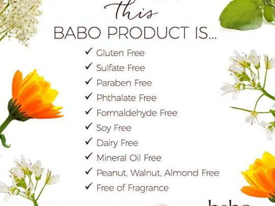 Babo Botanicals Baby Skin Mineral Sunscreen Lotion SPF 50 with 100 Zinc Oxide Active Non Greasy Water Resistant Reef Friendly Fragrance Free Vegan 3 oz 0 2 540x405 c