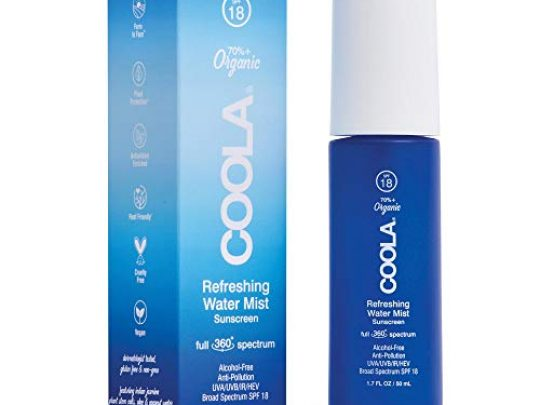 COOLA Organic Refreshing Water Mist Face Sunscreen Full Spectrum Skin Care with Coconut Aloe Water Broad Spectrum SPF 18 Reef Safe 0 540x405 c