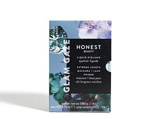 Honest Beauty Glam Gaze Gift Set Perfect for Gifting Full Size Extreme Length Mascara Lash Primer Liquid Eyeliner Cruelty Free Ophthalmologist Tested 1 Count 0 540x405 c