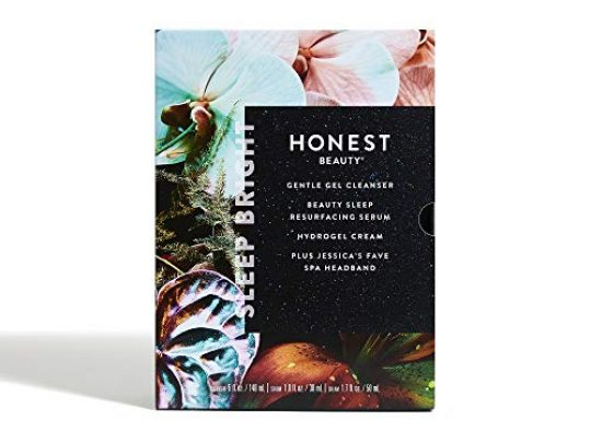 Honest Beauty Sleep Bright Gift Set Perfect for Gifting Full Size Gentle Gel Cleanser Beauty Sleep Resurfacing Serum Hydrogel Includes Jessicas Fave Spa Headband Cruelty Free 1 Count 0 540x405 c