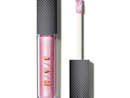 PYT Beauty Glam Glitter Gel Liquid Eyeshadow Clear with Pink Shimmer Hypoallergenic Crulety Free Vegan 1 Count 0 540x405 c