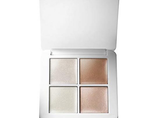 rms beauty luminizer x quad highlighter Creamy Light Reflective Organic 4 Shade Face Makeup Palette for Dewy Glowing Nourished Skin Luminizer X Luminizer Nude Champagne Rose Champagne Fizz 0 540x405 c