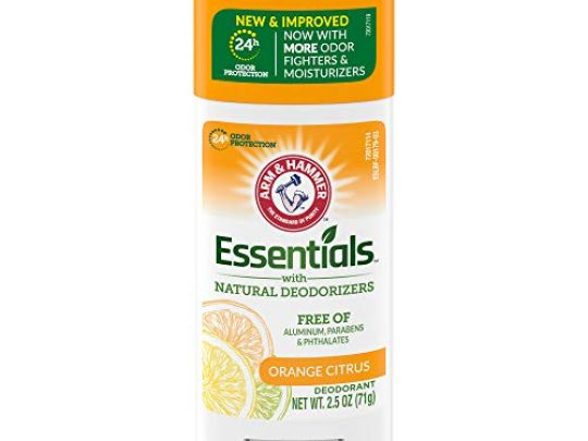 ARM HAMMER Essentials Deodorant Orange Citrus Solid Oval 25oz Made with Natural Deodorizers Free From Aluminum Parabens Phthalates 0 540x405 c