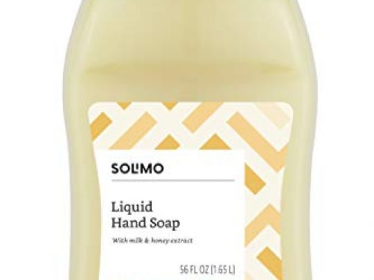 Amazon Brand Solimo Liquid Hand Soap Refill Milk and Honey Scent Triclosan free 56 Fluid Ounces Pack of 1 0 540x405 c