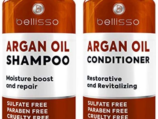 Argan Oil Shampoo and Conditioner Set Sulfate Free and Paraben Free Morrocan Hair Treatment for Women and Men 0 540x405 c