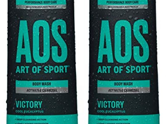 Art of Sport Activated Charcoal Body Wash for Men 2 Pack Victory Scent Cool Eucalyptus Fragrance Natural Botanicals Tea Tree Oil Aloe Vera Intensely Moisturizing Sulfate Free 16 fl oz 0 540x405 c