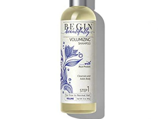 Begin Beautifully Volumizing Shampoo Lightweight Sulfate Free Formula for Fine Thinning Normal Hair to Create a Thicker Fuller Appearance 0 540x405 c