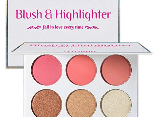 Blusher Illuminator Highlighter Bronzer Powder Contour Collection Set 3 Blusher 3 Highlighter Powder Palette Perfect for Contouring and Highlighting Vegan and Cruelty Free 0 540x405 c