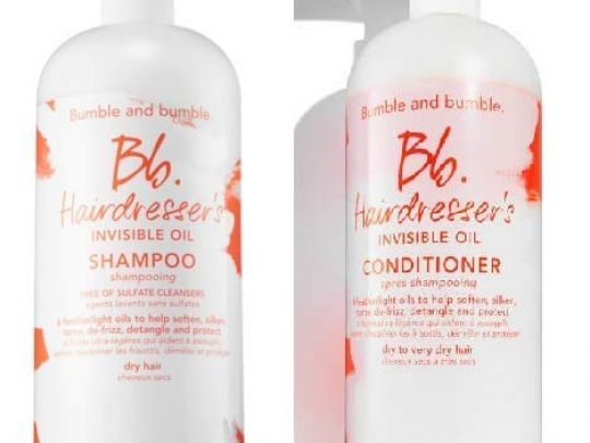 Bumble and Bumble Hairdressers Invisible Oil Sulfate Free Shampoo Conditioner Liter Duo 0 540x405 c
