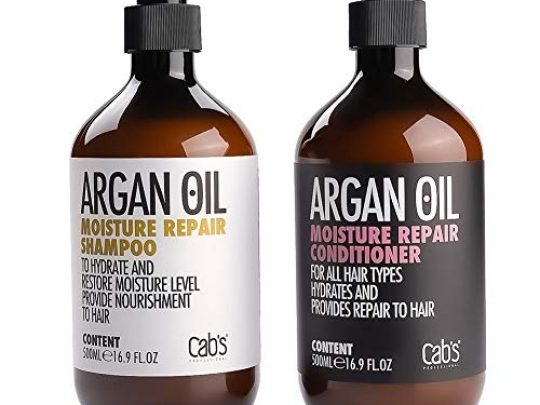 Cabs Argan Oil Moisture Repair Shampoo and Conditioner Set Sulfate Free Good for DamagedDryCurly or Frizzy Hair Suitable with All Hair Types Safe for ColorKeratin Treated Hair 0 540x405 c
