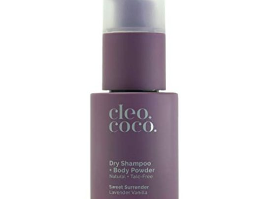 CleoCoco Dry Shampoo Body Powder for Women made with Essential Oil and Arrowroot Powder Absorbs Odor and Wetness All Natural Free of Talc Phthalates and Parabens made in the USA Lavender 4oz 0 540x405 c