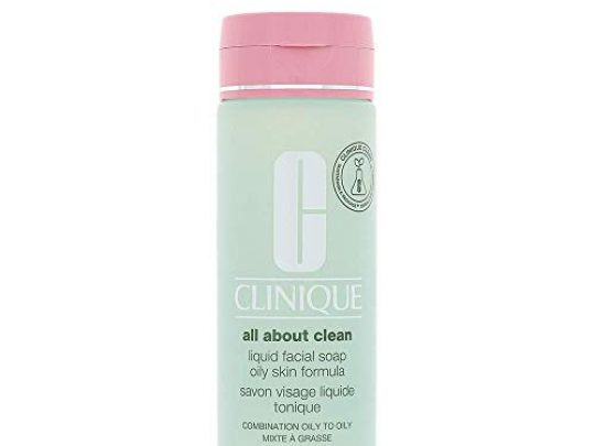 Clinique Liquid Facial Soap Combination Oily to Oily Skin Formula Dermatologist Developed to Protect Natural Moisture Balance Free of Parabens Phthalates and Fragrance 67 fl oz 0 540x405 c