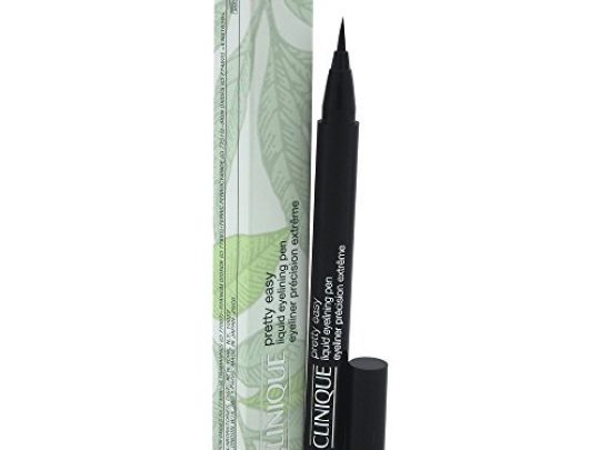 Clinique Pretty Easy Liquid Eyelining Pen Precision Brush with 24 Hour Smudge and Budge Resistant Wear Ophthalmologist Tested Free of Parabens Phthalates and Fragrance Black 002 oz 0 540x405 c