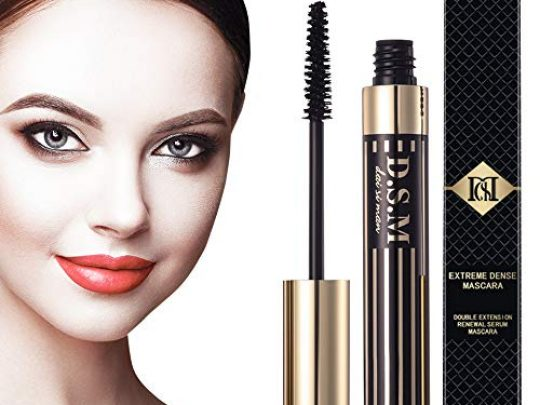 Double Extension Waterproof Mascara Nature Thick and Lengthening Mascara Long Lasting No Flake Smudge proof Clump free Black Mascara 035 fl oz 0 540x405 c