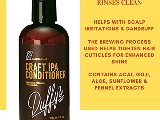 Duffys Brew Craft Beer Conditioner and Shampoo Sulfate Paraben Phthalate Free Hair Care 100 Vegan Hair Shampoo that Moisturizes Nourishes Seals Protects Color Safe 24 OZ Shampoo Conditioner 0 2 540x405 c