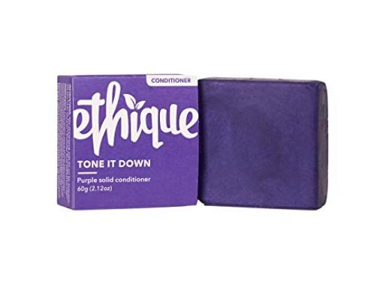 Ethique Purple Conditioner Bar for Blonde Hair Tone It Down Sustainable Natural Toning Conditioner for Silver Hair pH Balanced Sulfate Free Vegan Eco Friendly Compostable Zero Waste 212oz 0 540x405 c