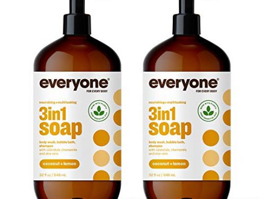 Everyone 3 in 1 Soap Body Wash Bubble Bath and Shampoo Coconut and Lemon 32 Ounce 2 Count Packaging May Vary 0 540x405 c