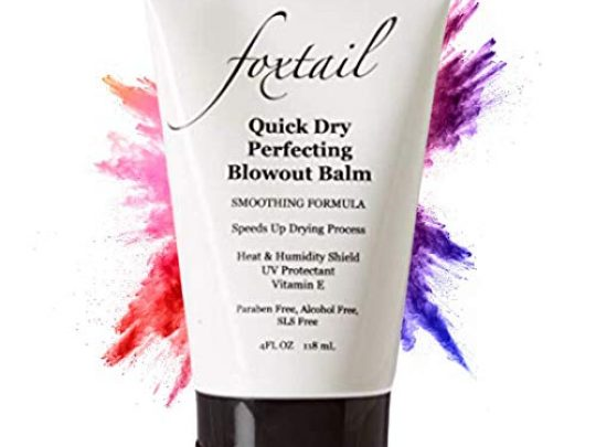 FOXTAIL Quick Dry Perfecting Blowout Balm Smoothing Anti Frizz Leave In Serum Heat Protection UV Shield Blow Dry Accelerator SLS Paraben Free 4 Fl Oz 0 540x405 c