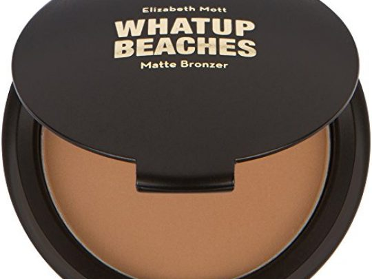 Fine Lightweight Bronzer Powder for Face Elizabeth Mott Whatup Beaches Facial Bronzing Powder for Contouring and Sun Kissed Coverage Cruelty Free Makeup and Cosmetic Products Matte10g 0 540x405 c