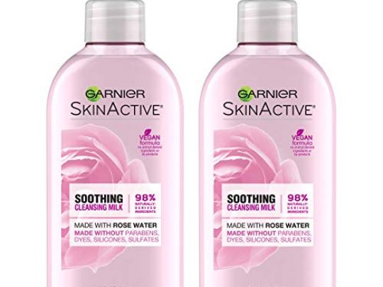 Garnier SkinActive Milk Face Wash with Rose Water 67 Fl Oz Pack of 2 Packaging May Vary 0 540x405 c