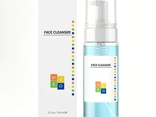 HE VO Face Cleanser Foaming Daily Facial Cleanser for All Skin Types Removes Dirt Makeup For Men and Women Sulfate Paraben Phthalate Free 5 fl oz 0 540x405 c