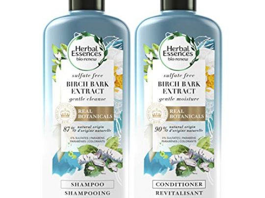 Herbal Essences Sulfate Free Shampoo and Conditioner Kit With Natural Source Ingredients BioRenew Birch Bark Extract Color Safe 135 122 fl oz Kit 0 540x405 c