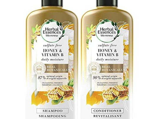 Herbal Essences Sulfate Free Shampoo and Conditioner Kit With Natural Source Ingredients BioRenew Honey Vitamin B Color Safe 135 122 fl oz Kit 0 540x405 c