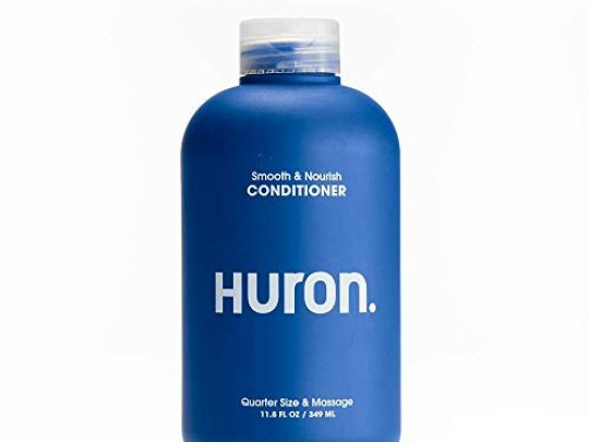 Huron Mens Smooth Nourish Conditioner Lightweight conditioner rehydrates as it moisturizes smoothes frizz and restores shine Fresh clean scent Sulfate free 100 vegan 12 oz 0 540x405 c