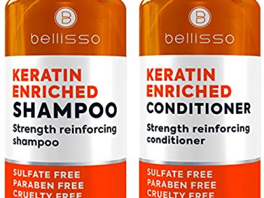Keratin Shampoo and Conditioner Set Sulfate Free Deep Treatment with Morrocan Argan Oil Anti Frizz for Dry Hair and Extra Shine 0 540x405 c