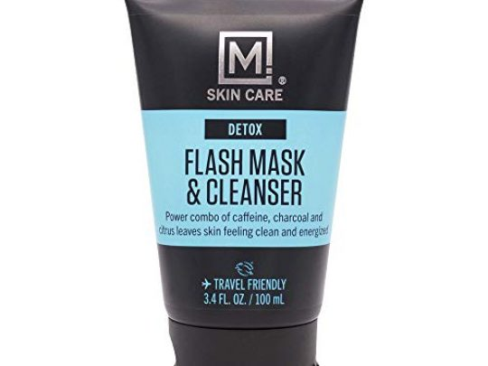 M Skin Care Detox Flash Facial Mask and Cleanser for Men Pore Cleansing Charcoal Cruelty Free 0 540x405 c