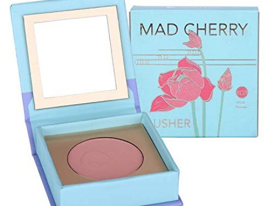 Madcherry Blush Powder Makeup Palette Shimmer Matte Cheek Tint With Mirror Sheer Flush Of Color Buildable Blendable Cruelty free Makeup Blusher For Girls Wife Coral 0 540x405 c