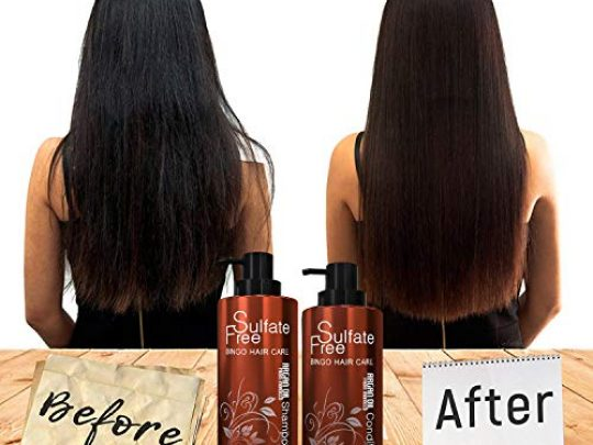 Moroccan Argan Oil Shampoo Sulfate Free Best for Damaged Dry Curly or Frizzy Hair Thickening for Fine Thin Hair Safe for Color Treated Keratin Treated Hair Professional Line 0 0 540x405 c