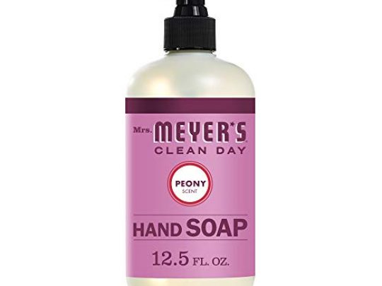 Mrs Meyers Clean Day Liquid Hand Soap Cruelty Free and Biodegradable Hand Wash Made with Essential Oils Peony Scent 125 oz Bottle 0 540x405 c