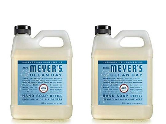 Mrs Meyers Clean Day Liquid Hand Soap Refill RainWater Scent 33 OZ 2 PACK 0 540x405 c