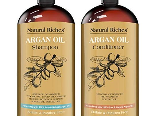 Natural Riches Moroccan Argan Oil Organic Shampoo Conditioner Set Sulfate Free Vitamin enriched infused with Keratin 2 x 16 Fl oz 0 540x405 c