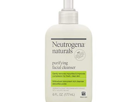 Neutrogena Naturals Purifying Daily Facial Cleanser with Natural Salicylic Acid from Willowbark Bionutrients Hypoallergenic Non Comedogenic Sulfate Paraben Phthalate Free 6 Fl Oz 0 540x405 c