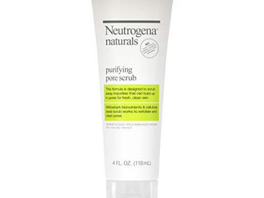 Neutrogena Naturals Purifying Daily Pore Facial Scrub with Natural Salicylic Acid from Willowbark Bionutrients Hypoallergenic Non Comedogenic Sulfate Paraben Phthalate Free 4 fl oz 0 540x405 c
