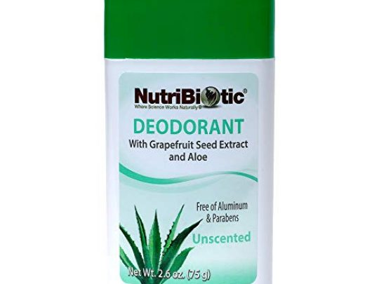 NutriBiotic Deodorant with GSE Unscented and Fragrance Free 26 ounce Stick Non GMO with Witch Hazel Grapefruit Seed Extract Aloe Vegan Free of Aluminum Paraben Phthalates Gluten GMOs 0 540x405 c