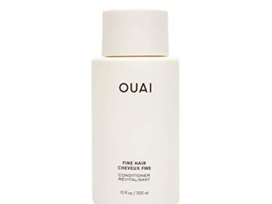 OUAI Fine Conditioner This Lightweight Conditioner Gives Fine Hair Softness Bounce and Volume Made with Keratin and Biotin Free from Parabens Sulfates and Phthalates 10 oz 0 540x405 c