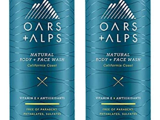 Oars Alps Mens Body Wash Natural Skin Care Hydrates with Aloe Vera and Jojoba Oil Vegan and Gluten Free California Coast Pack Ylang Ylang 288 Ounce Pack of 2 0 540x405 c