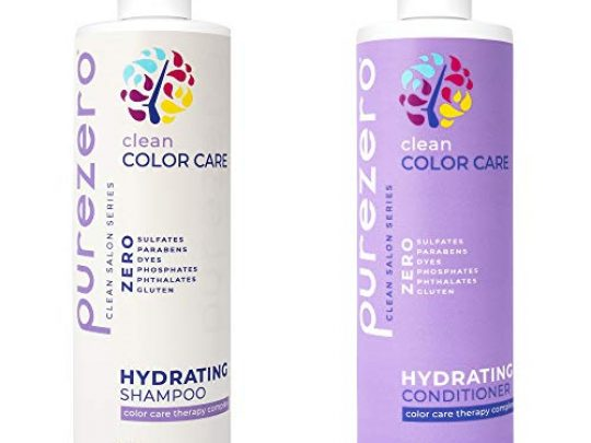 Purezero Clean Color Care Hydrating Shampoo Conditioner Toning Balance for Color Treated Hair Hydrate Dry Hair Fight Color Fading Zero Sulfates Parabens Dyes 100 Vegan Cruelty Free 0 540x405 c