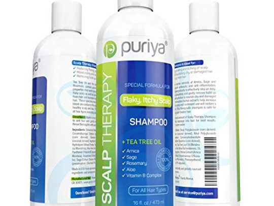 Puriya Sulfate Free Shampoo Plant Based Tea Tree Shampoo Safe and Paraben Free Ideal for Hydrating and Moisturizing Treatment of Dry Itchy Flaky Scalp and Hair 16 oz 0 540x405 c