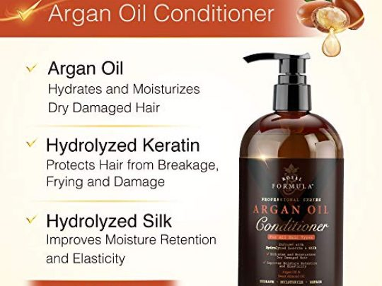 ROYAL FORMULA Moroccan Argan Oil Hair Conditioner Sulfate Free Infused with KERATIN Treatment for Dry Damaged Color Treated Frizzy Curly Hair Best for All Hair Types 16 Fl Oz 0 0 540x405 c