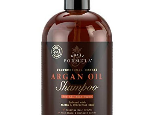 ROYAL FORMULA Moroccan Argan Oil Shampoo Sulfate Free Infused with BIOTIN Moisturizing and Volumizing Shampoo SAFE for Color Treated Hair Best for Thinning Hair Regrowth for Men Women 16 Fl Oz 0 540x405 c