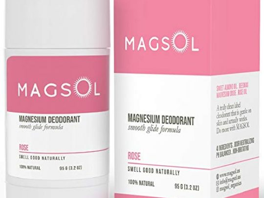 Rose Natural Deodorant with Magnesium Aluminum Free Baking Soda Free Alcohol Free Cruelty Free Healthy Safe Non Toxic All Natural For Women Men Kids 32 oz Lasts over 4 months 0 540x405 c