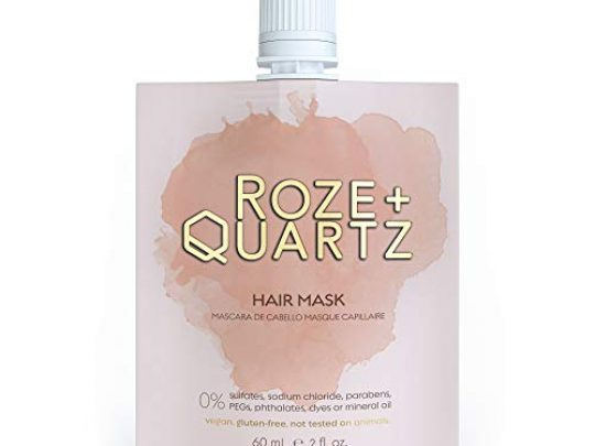 Roze Quartz Hair Mask for Dry Damaged Hair Deep Conditioning Hair Mask for Color Treated Hair All Hair Types Paraben Sulfate Free Vegan Hair Conditioning Treatment for Damaged Dry Hair 0 540x405 c