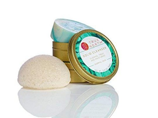 Solid Cleanser Beauty Bar with Chaga and Konjac facial sponge Clean Moisturizer Made with natural and organic ingredients Phthalate Free Paraben Free from Maine by True North Beauty 35 Ounce 0 540x405 c