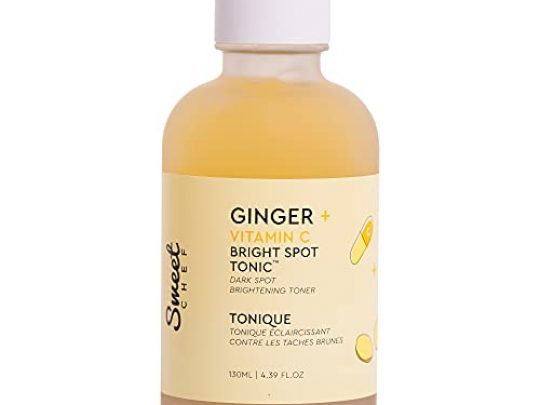 Sweet Chef Ginger Vitamin C Spot Tonic Ginger Turmeric Vitamin C Facial Toner Hydrates and Visibly Smooths Skin Vitamin C Helps to Fade the Appearance of Dark Spots 130ml 439 fl oz 0 540x405 c